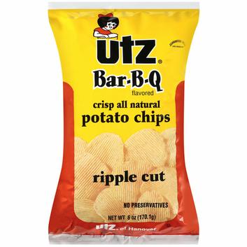 Utz Bar-B-Q Flavored Ripple Cut Potato Chips