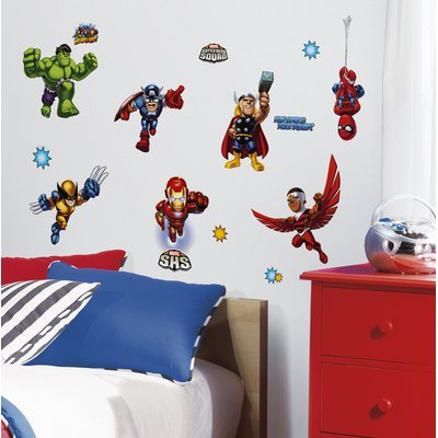 Roommates RoomMates Marvel Super Hero Squad Peel and Stick Wall Decals