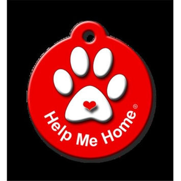 QR Code Pet ID Tag 01-HH-HP-FR Help Me Home Signature Line Fire Engine Red Dog Tag