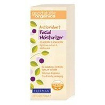 Freeman Beauty Freeman Good Stuff Organics Antioxidant Facial Moisturizer, Goji Berry & Acai Berry 2.5 fl oz (75 ml