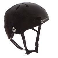 Punisher Skateboards 13-vent Metallic Black Youth BMX/ Skateboard Helmet