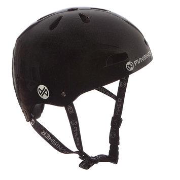 Punisher Skateboards 13-vent Metallic Black Youth BMX/ Skateboard Helmet