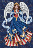 Dimensions Gold Collection Petite Patriotic Angel Counted Cross Stitch Kit