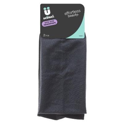 Scunci Effortless Beauty Extra Wide Headwrap - Black/Grey