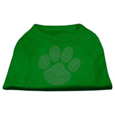 Ahi Clear Rhinestone Paw Shirts Emerald Green Sm (10)
