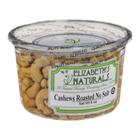 Elizabeth's Naturals Cashews Roasted No Salt