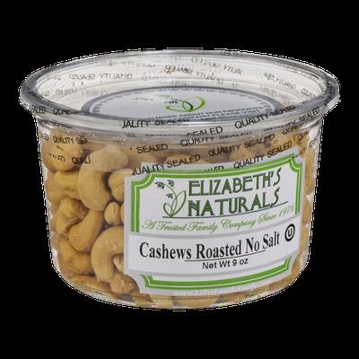 Elizabeth's Naturals Cashews Roasted No Salt
