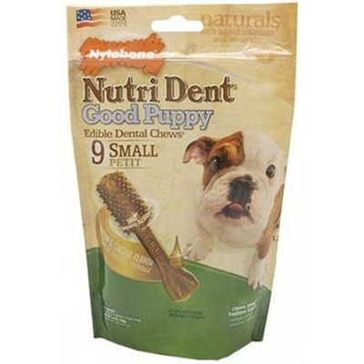 Nylabone Nutri Dent Good Puppy, Bacon and Cheese Flavor, 9 Count Pouch