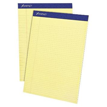 Ampad 8 1/2 x 11 3/4 Writing Pad, Narrow Rule, Micro Perfed- Canary