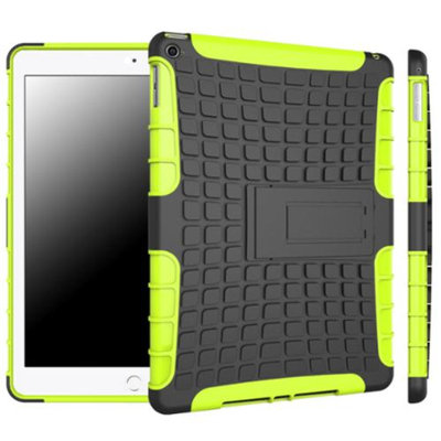 iPad Air 2 Case - roocase [BLOK Armor] iPad Air 2 2014 Hybrid Dual Layer Rugged Case Cover with Kickstand for Apple iPad Air 2 (2014) 6th Generation Latest Model, Green