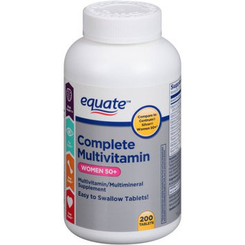 Equate Complete Multivitamin Women 50+ Multivitamin/Multimineral Supplement, 200 count