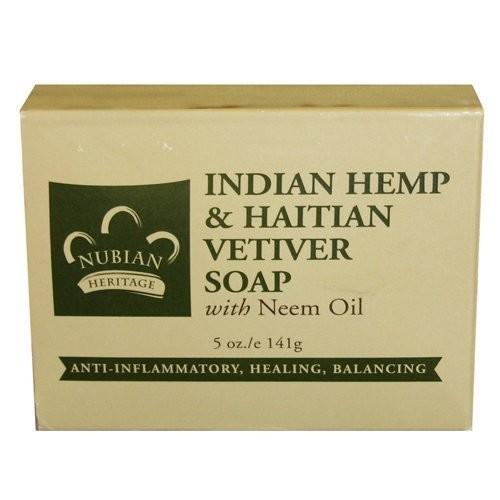 Nubian Heritage Soap Bar, Indian Hemp