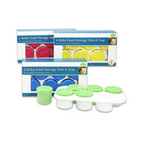 4sgm 6pc Baby Food Container & Tray (Blue)