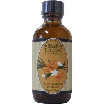 Totonac Pure Almond Extract, Net 2 fl oz. bottles (Pack of 4)