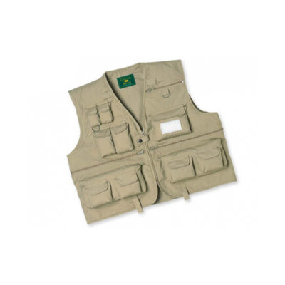 Big Game Intl. Crystal River Fly Fishing Vest Tan Medium