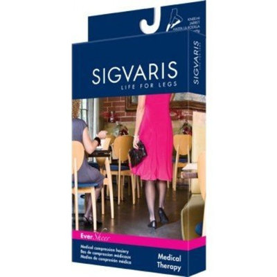 Sigvaris 780 EverSheer 20-30 mmHg Women's Closed Toe Thigh High Sock Size: S4, Color: Black 99