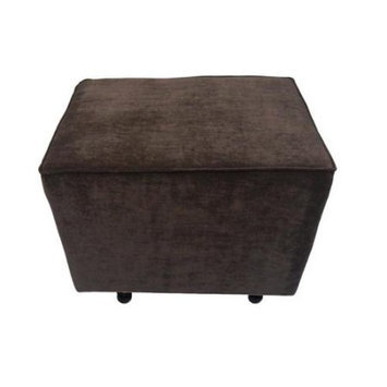 Fun Furnishings Comfy Cozy Ottoman - Chocolate Vanity