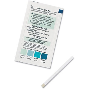 PhysiciansCare Accutest Alcohol Screener Test Kit, 25 Tests/Kit