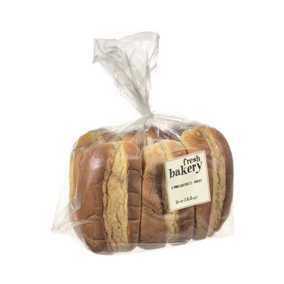 Fresh Bakery Mini Honey Wheat Sub Rolls - 6 CT