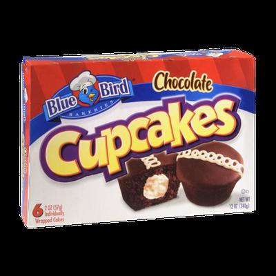 Blue Bird Bakeries Chocolate Cupcakes - 6 CT