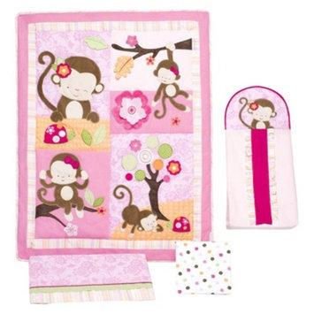 Kidsline Miss Monkey 4 Piece Crib Set