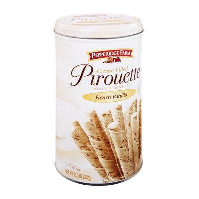 Pepperidge Farm French Vanilla Creme Filled Pirouette Rolled Wafers