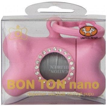 Petego Bon Ton Nano Luxury Bag Dog Waste Dispenser, Pink