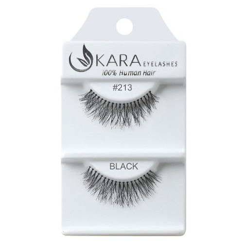 Kara Beauty Human Hair Eyelashes - 213 (Pack of 12)