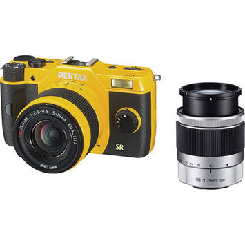 Pentax Q7 Compact Mirrorless Camera with 5-15mm and 15-45mm Lenses, Yellow