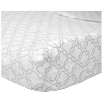 Carter's Carters Changing Pad Cover In Grey Trellis Print