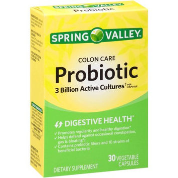 Wal-mart Store, Inc. Spring Valley Colon Care Probiotic Dietary Supplement Vegetable Capsules, 30 count