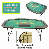 Trademark Commerce Trademark Professional Blackjack Table with Folding Legs