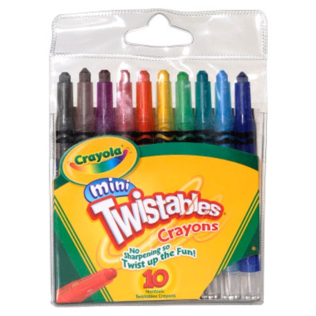 Crayola Mini Twistables Crayons , 10 pack
