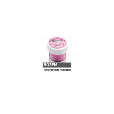 1/2 Ounce Flourescent Magenta Acrylic Powder by Sassi for Beautiful Nails