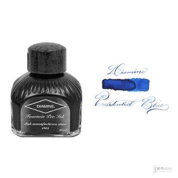DIAMINE 80 ml Bottle Fountain Pen Ink, PRESIDENTIAL BLUE