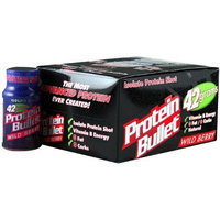 Bullet Nutrition Protein, Wild Berry, 12 - 2.8 oz Containers