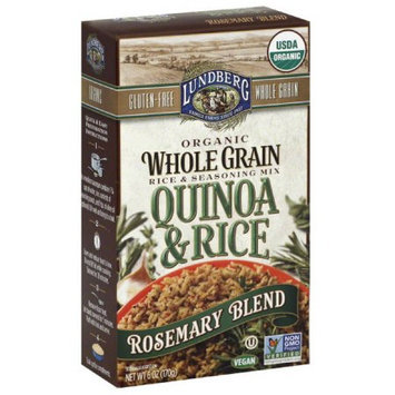 Lundberg Quinoa & Rice Rosemary Blend Organic Whole Grain Rice & Seasoning Mix, 6 oz, (Pack of 6)