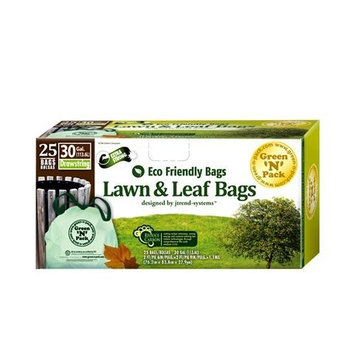 Green 'n' Pack Green-n-Pack Lawn and Leaf Trash Bags, 30gallon, 25 Count
