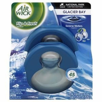 Air Wick Limited Edition National Park Series Flip & Fresh, Twin Pack, Glacier Bay Serene Waters, 1 pk