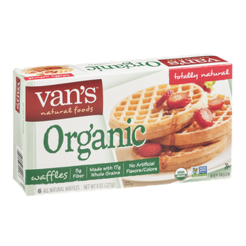 Van's Natural Foods Organic Waffles - 6 CT