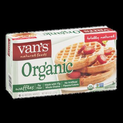 Van's Natural Foods Organic Waffles - 6 CT