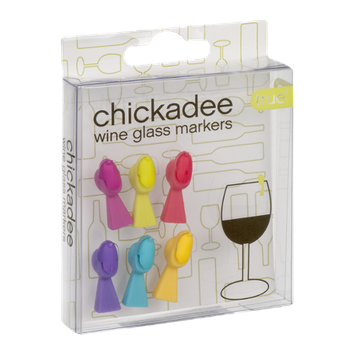 True Chickadee Wine Glass Markers - 6 CT
