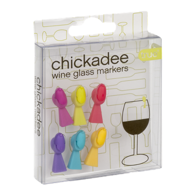 True Chickadee Wine Glass Markers - 6 CT