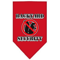 Mirage Pet Products Backyard Security Screen Print Bandana for Pets, Small, Red