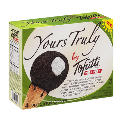 Yours Truly by Tofutti Milk Free Cones - 4 CT