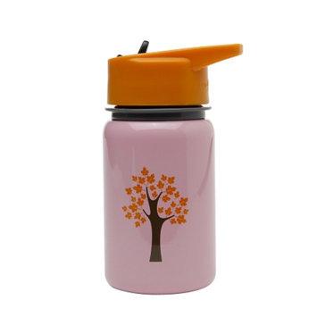 Eco Vessel Scout Kids Stainless Steel Water Bottle w/ Straw Top, Pink Tree, 13 oz