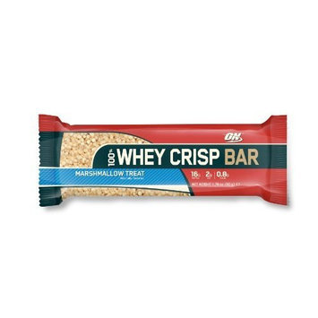 Optimum Nutrition 100% Whey Crisp Bar Double Rich Chocolate 12 Bars 2.29 OZ BARS (27.46OZ TOTAL BOX)