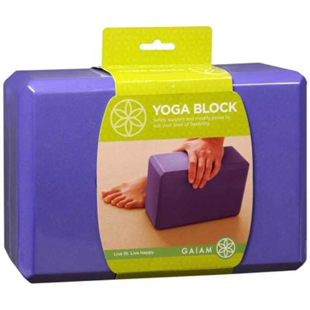 Gaiam Yoga Block, Purple, 1 ea
