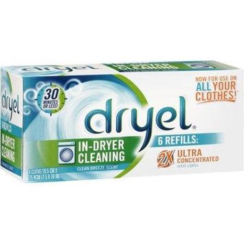 Dryel Refill Cloths, Clean Breeze 6 ea, Pack of 3