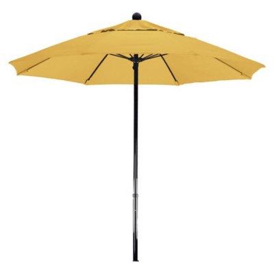 California Umbrella 7.5' Aluminum Pulley Patio Umbrella - Yellow Pacifica